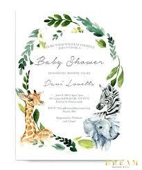 Jungle Baby Shower Invitations Animal Safari Invitation Template