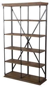 gdf studio alondra 5 shelf industrial weathered wood bookshelf industrial bookcases by gdfstudio