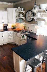 Bedroom Furniture With Granite Tops Kitchen Love Black Granite Counter Tops White Subway Tile