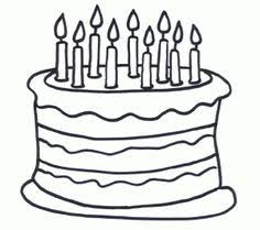 Small Picture Birthday cake coloring page Birthday Preschool theme Pinterest