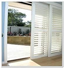 plantation shutters for sliding doors bypass shutters for sliding