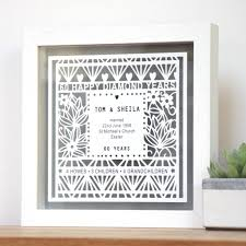 60th wedding anniversary gift with frame