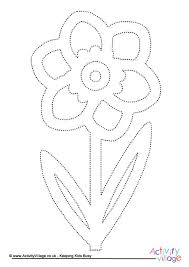 daffodil_tracing_page_460_2 flower printables on bunting template to print