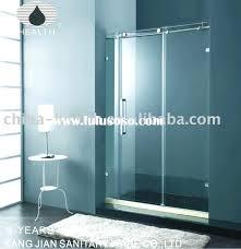 tempered glass shower doors exploding sliding door bathroom screen lighting