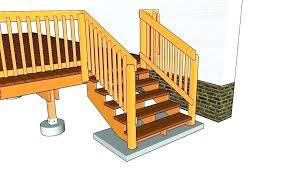 prefab stairs home depot deck outdoor wooden