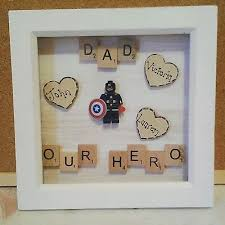 fathers day personalised gift present superhero dad daddy grandad gry