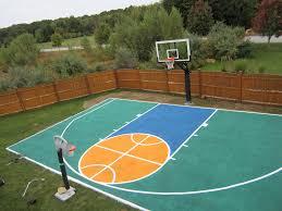 home basketball court design. Exclusive Backyard Basketball Court Dimensions Half Basket Ball Home Design: Design H