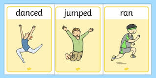 Verb Action Free Verb Action Posters Past Tense Verbs Grammar