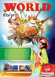 World Trip Flyer Psd Template Free Download Vector Stock