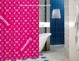 supreme pink design logo art high quality custom shower curtain 60 x 72