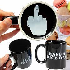 office coffee cups. Fine Office 10oz Novelty Ceramic Middle Finger Coffee Cups Personality Office Gifts  Have A Nice Day Mug With