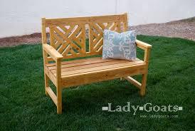 garden bench diy plans. free plans to build a woven back bench from ana-white.com garden diy