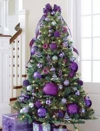 Purple Christmas tree theme