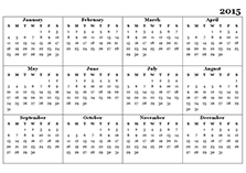 Customizable Calendar 2015 2015 Calendar Templates Download 2015 Monthly Yearly