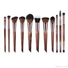 zouyesan 2019 new 11 makeup brush set wooden handle high end beauty tools natural makeup wedding makeup from zouyesan 13 2 dhgate