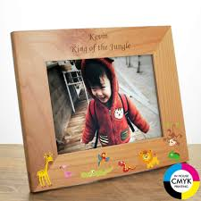 jungle personalised photo frame