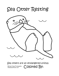 Small Picture Animal Coloring Pages For Adults Sea otter with a fish Fabric