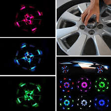 Car Light Decoration 4 Mode 12 Led Car Auto Solar Energy Flash Wheel Tire Light Lamp