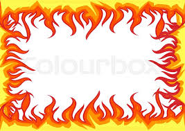 fire flames frame stock vector