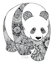 Pages Combo Panda Printable Coloring