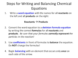 chemical reactions unit ppt chem08 word equations note and worksheet