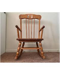 wooden rocking chair for nursery. Vintage Childrens Rocking Chair Oak Hill Wood Kids Toddler Nursery Wooden For A