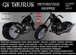second life marketplace gs taurus chopper bike motorbike