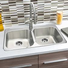 Hahn Chef Series Stainless Steel Top Mount Sink With Kitchen Faucet