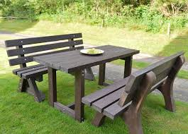 fascinating plastic garden table 2 recycled furniture sets pertaining to green living impressive plastic garden table