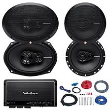 speakers 4. car speaker and amp combo of 2x rockford fosgate r165x3 prime 6.5\u0026quot; inch 180 watt speakers 4 a