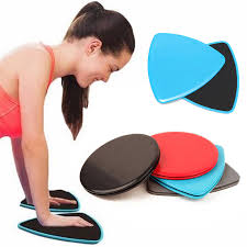 2x exercise glidering sliding discs fitness core sliders sports workout