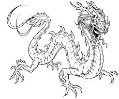 Small Picture Coloring Page Dragon 3186