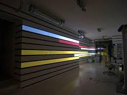 Wall lighting effects Modern Lighting Hitech Wall Lighting With Videprojektoren The Installation Of Struct Ofdesign Hitech Wall Lighting With Videprojektoren The Installation Of
