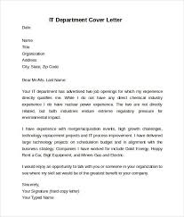 Internship Cover Letter For Information Technology Resume Cover
