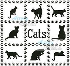 Cat Cross Stitch Patterns Best Cat Sampler Cross Stitch Pattern Cats