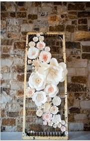 Hanging Paper Flower Backdrop Playful Pink And Navy Wedding Paper Flower Inspo Paper Flowers