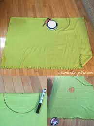 diy no sew car seat poncho from an ikea blanket