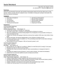 loss prevention resume law enforcement resume examples