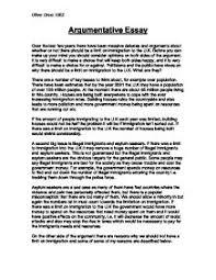 argumentative essay example for college college argumentative essay examples