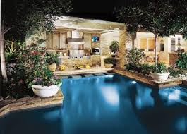 backyard pool bar. Pool And Outdoor Kitchen Backyard Bar