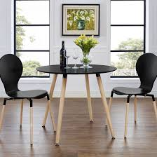 contemporary small round kitchen table house eden black dining room set furniture sets with storage pedestal