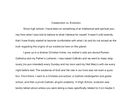 creationism vs evolution my reading and views gcse english  document image preview