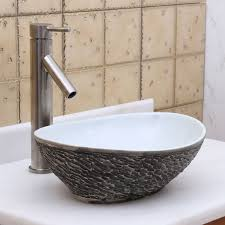 glass vessel sinks for bathrooms. ELITE 1574 Oval Gray And White Porcelain Ceramic Bathroom Vessel Sink Sinks, Stone Sink,kitchen Sink,Stainless Steelsink, Bathroom, Sink, Glass Sinks For Bathrooms