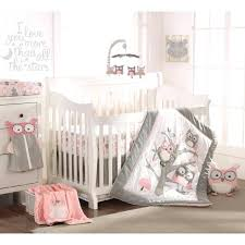 baby nursery baby girl owl nursery bedding amazing night 5 piece crib set pink