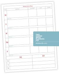 Weekly Meal Planning For One Ali Edwards Design Inc Blog Weekly Dinner Menu Planner Pdf
