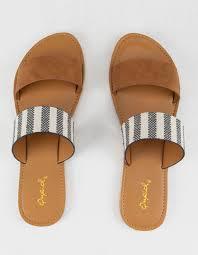Qupid Double Strap Stripe Womens Sandals Strip 343249912