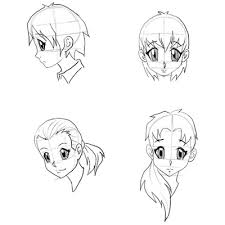 how to draw anime characters step by step for beginners. Draw Anime Faces Heads Drawing Manga Step By Tutorials In How To Characters For Beginners