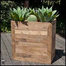 wood planters rectangle planter box reclaimed wood planters planters unlimited