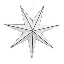 House Doctor Christmas Star Stroke 45 Cm Black White