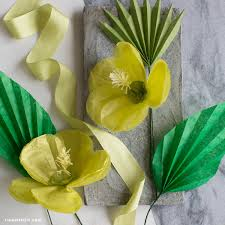 How To Make Flower Out Of Tissue Paper Diy Tropical Flowers Tissue Paper Hibiscus Lia Griffith